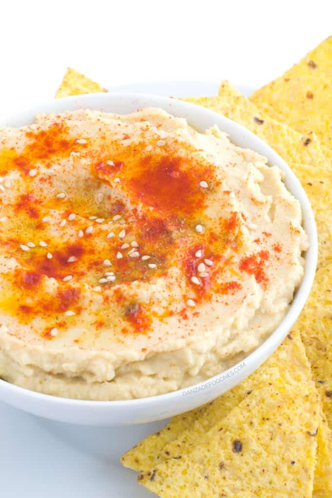 Como hacer Hummus en solo 10 minutos | danzadefogones.com