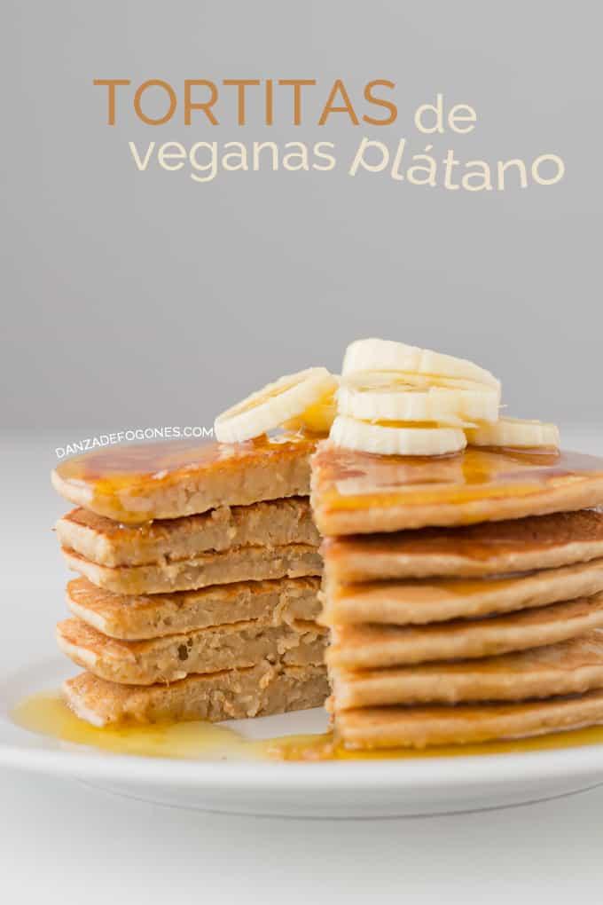 Tortitas de plátano veganas | danzadefogones.com #vegan
