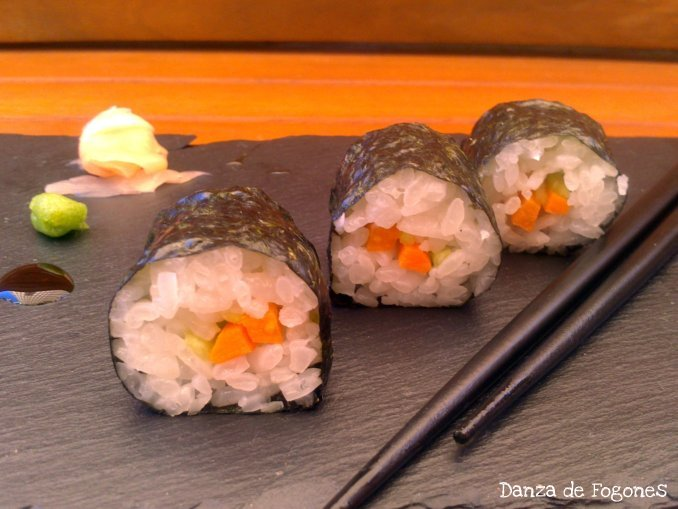 Sushi. Makis de Zanahoria y Pepino
