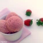 Helado de fresa (sin heladera)