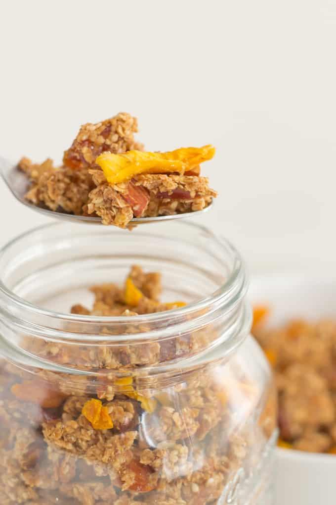 Homemade-Granola-danzadefogones.com #vegan #healthy