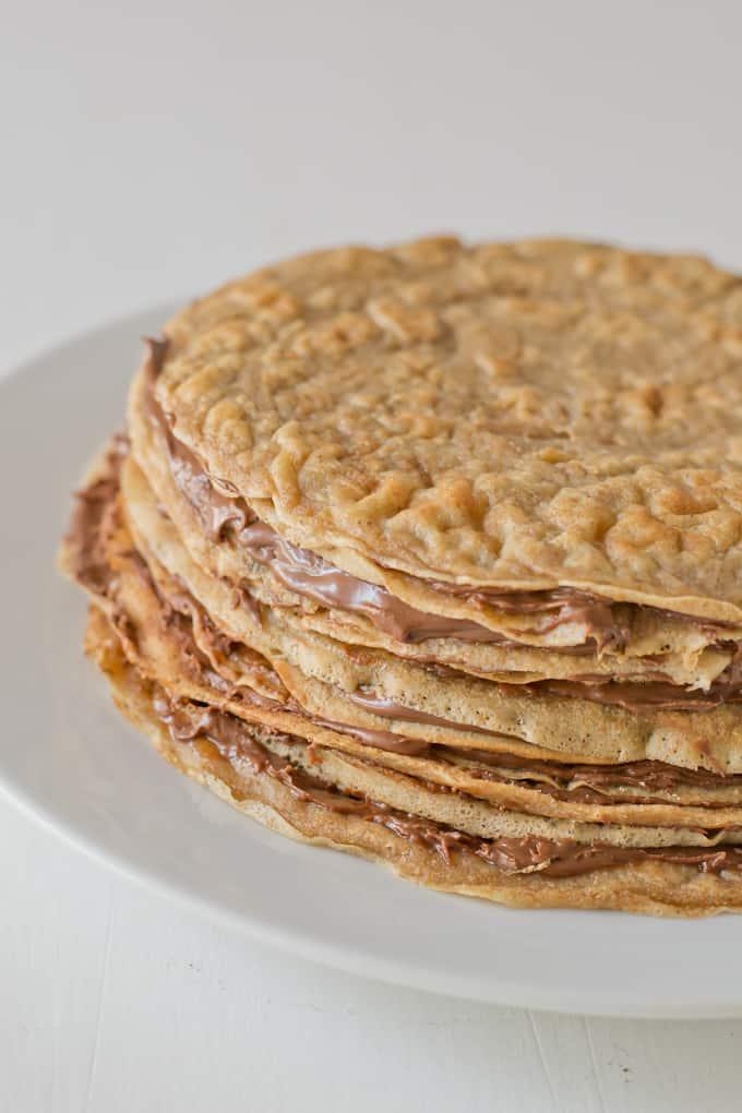 Tarta de crepes con nutella danzadefogones.com