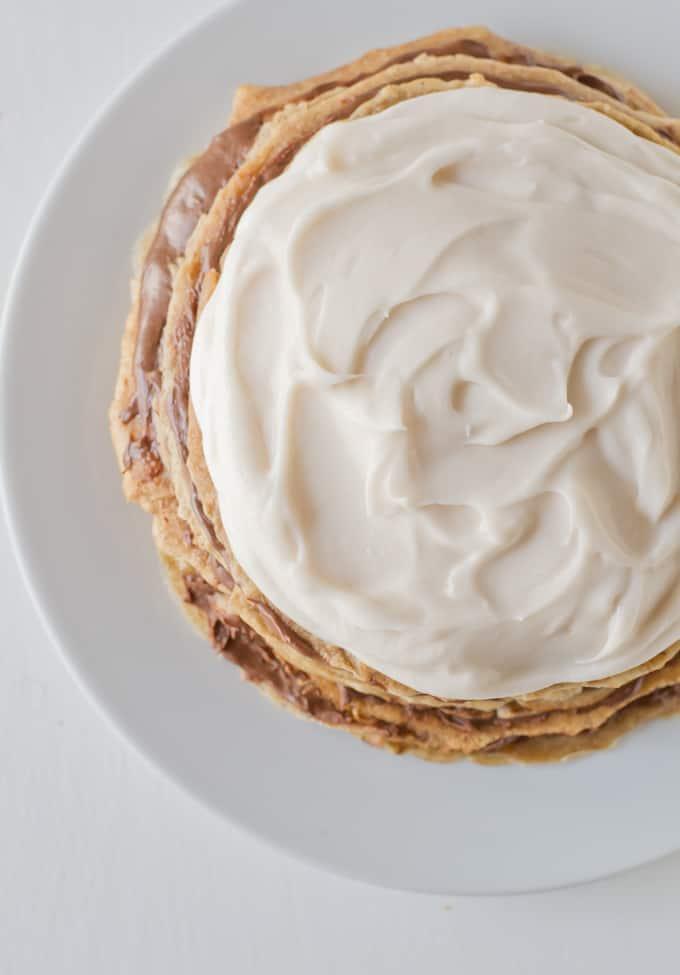 Tarta de crepes con crema de coco danzadefogones.com
