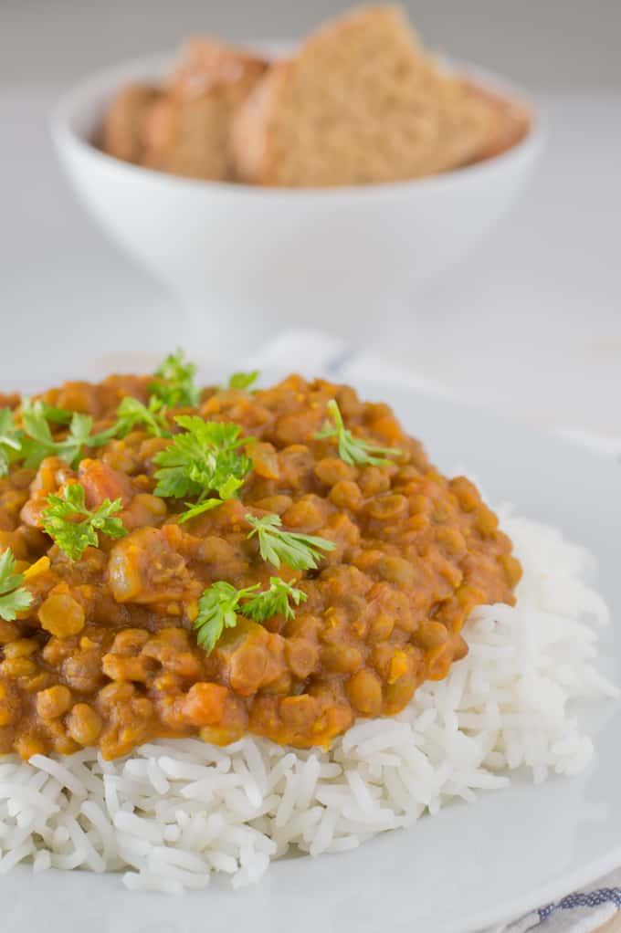 Lentejas Al Curry