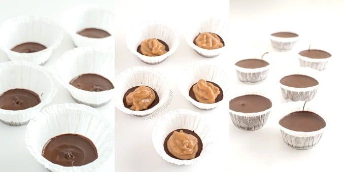 Chocolate cups paso a paso - danzadefogones.com