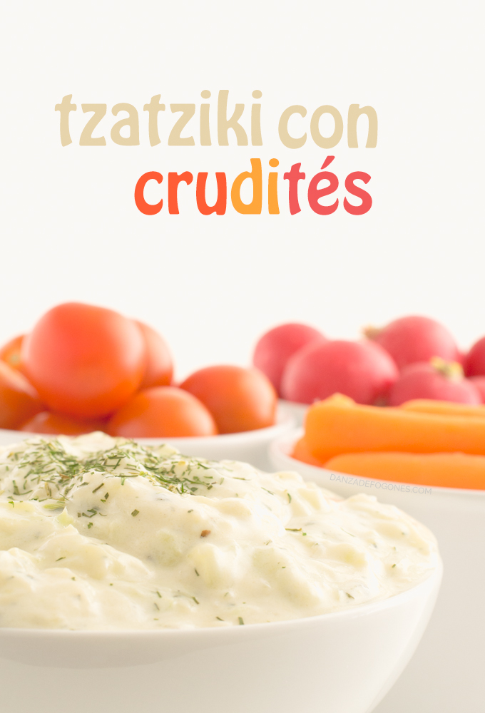Tzatziki con crudités - danzadefogones.com