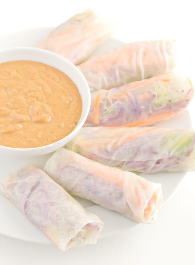 Rollitos de verano con salsa de tahini - danzadefogones.com-