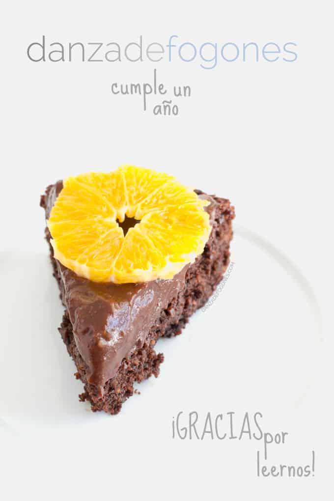 Tarta de chocolate cumpleaños danzadefogones