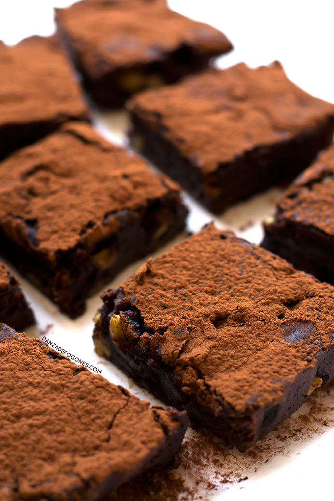 Brownie vegano sin gluten | danzadefogones.com