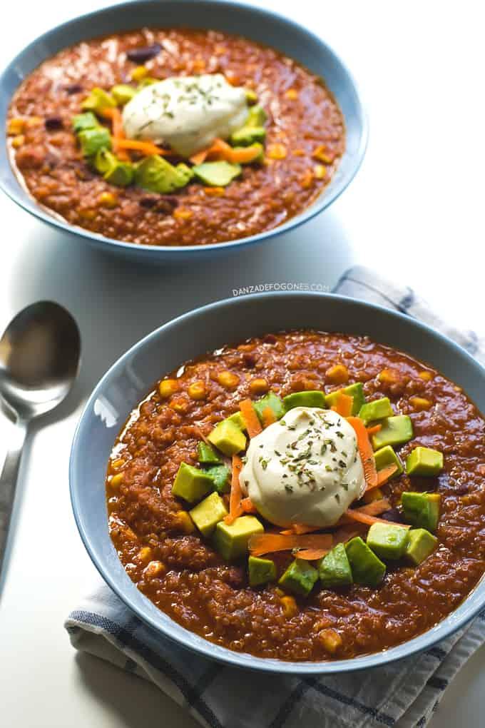 Chili de Quinoa   danzadefogones.com