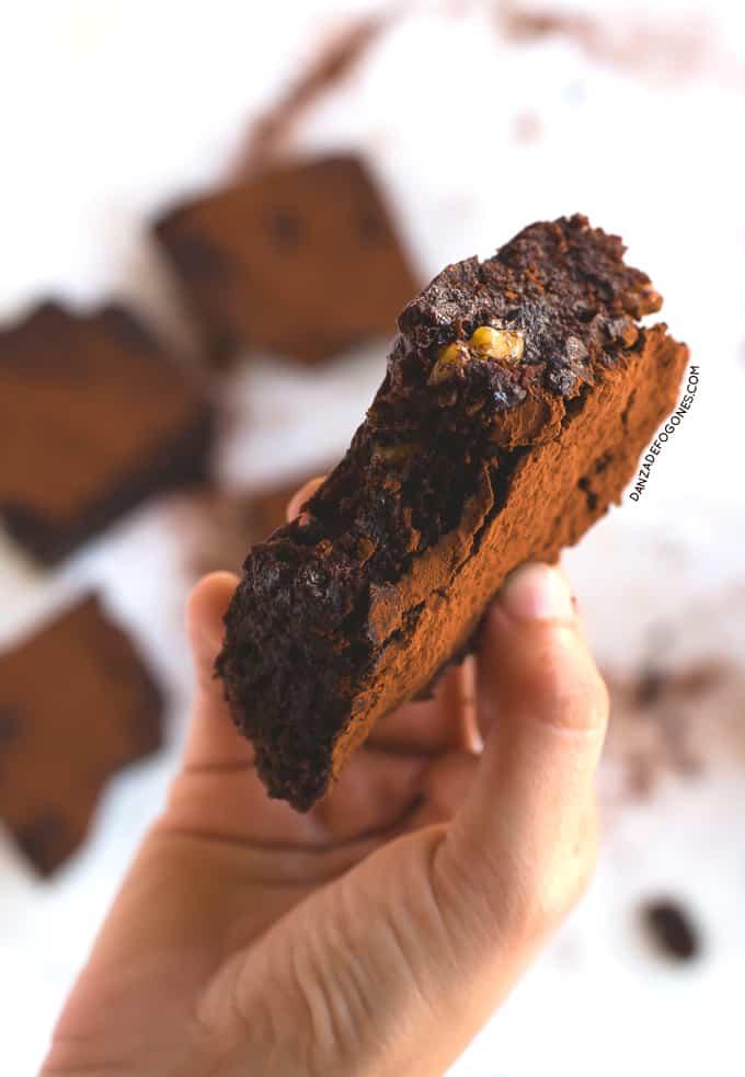 Receta de-Brownie vegano y sin gluten | danzadefogones.com