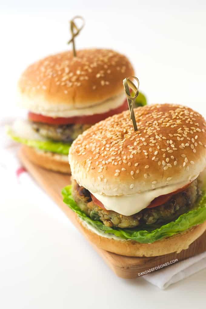 Receta de Hamburguesas Vegetales | danzadefogones.com