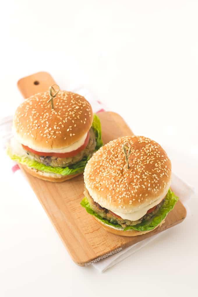 Receta de Hamburguesas Vegetarianas | danzadefogones.com