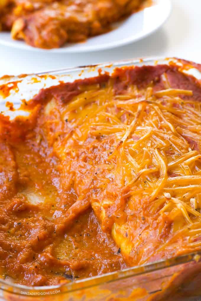 Enchiladas veganas | danzadefogones.com #danzadefogones