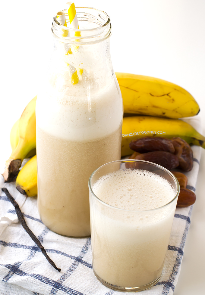 Leche de Plátano| danzadefogones.com #danzadefogones #vegano #vegana #singluten #receta
