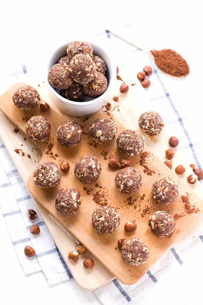 Trufas de chocolate y avellana | danzadefogones.com #danzadefogones #receta #vegano #vegana #singluten