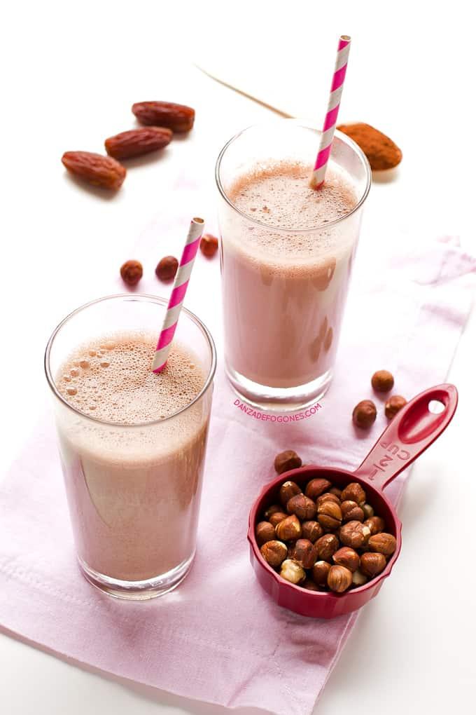 Leche de avellanas y cacao | danzadefogones.com #danzadefogones