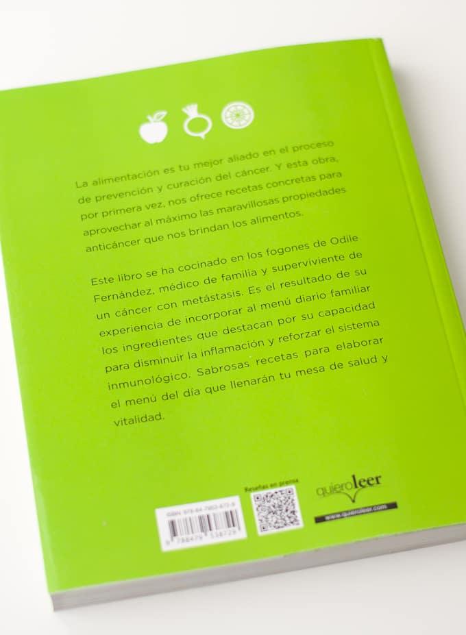 Libro Mis Recetas de Cocina Anticáncer de Odile Fernández | danzadefogones.com #danzadefogones