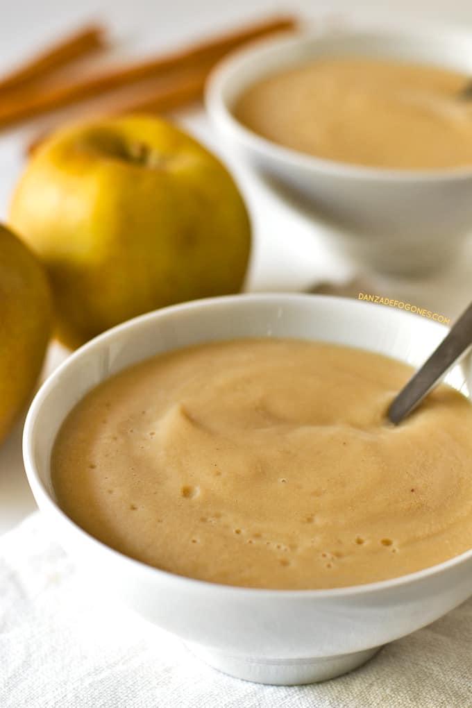 Natillas Veganas de Manzana