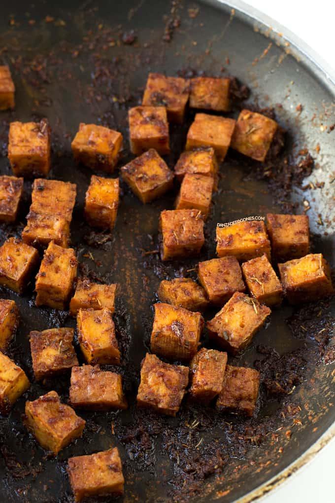 Tofu para Ensalada César