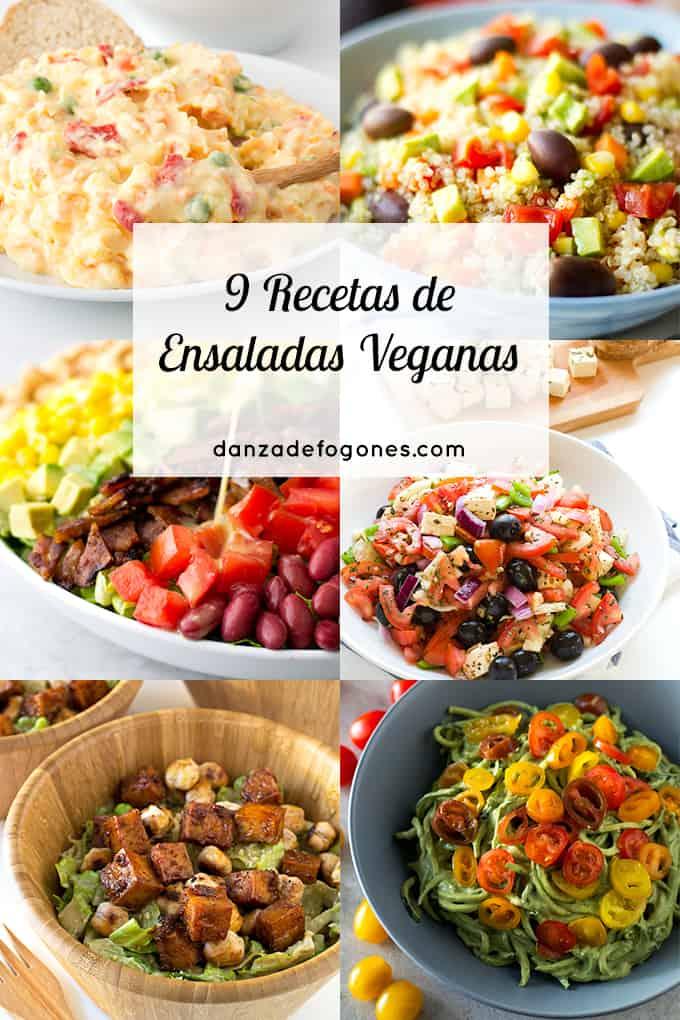 9 recetas de ensaladas veganas danza de fogones - Ensaladas gourmet faciles ...