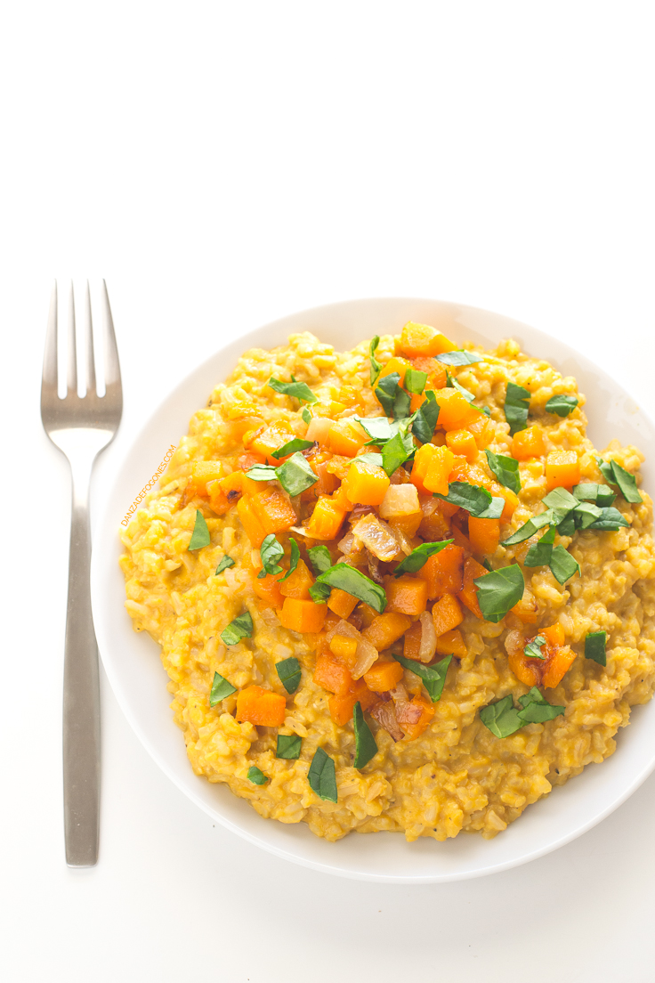 Risotto vegano de calabaza danza de fogones - Risotto arroz integral ...