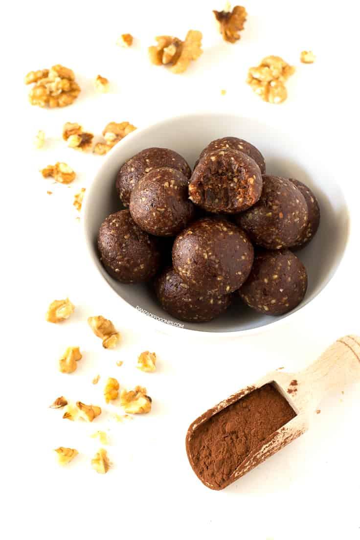 Trufas Crudiveganas de Cacao