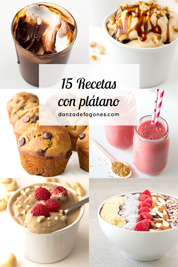 15 Recetas con Plátano
