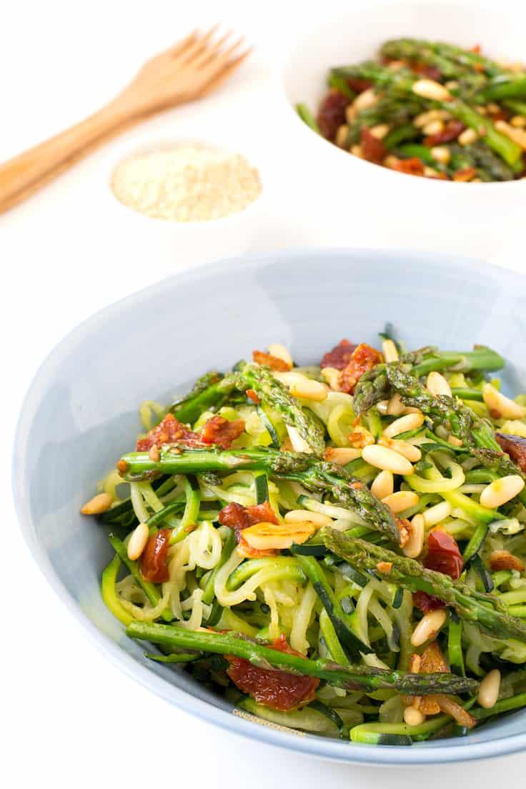 Pasta de Calabacín con Verduras