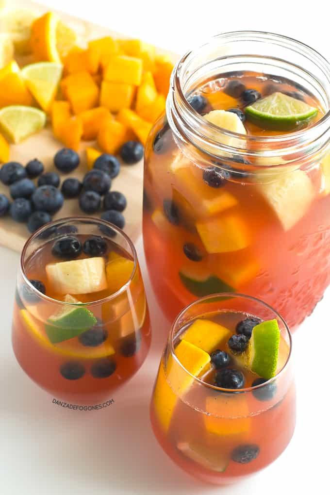 Sangria sin alcohol y sin azucar | danzadefogones.com