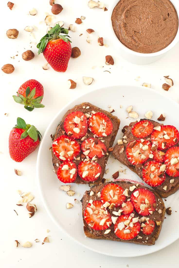 Tostada de Nutella y Fresas