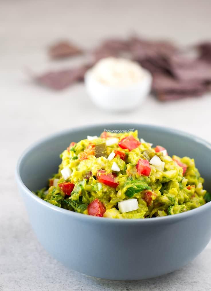 Ensalada de guacamole y arroz | danzadefogones.com #vegan #vegano
