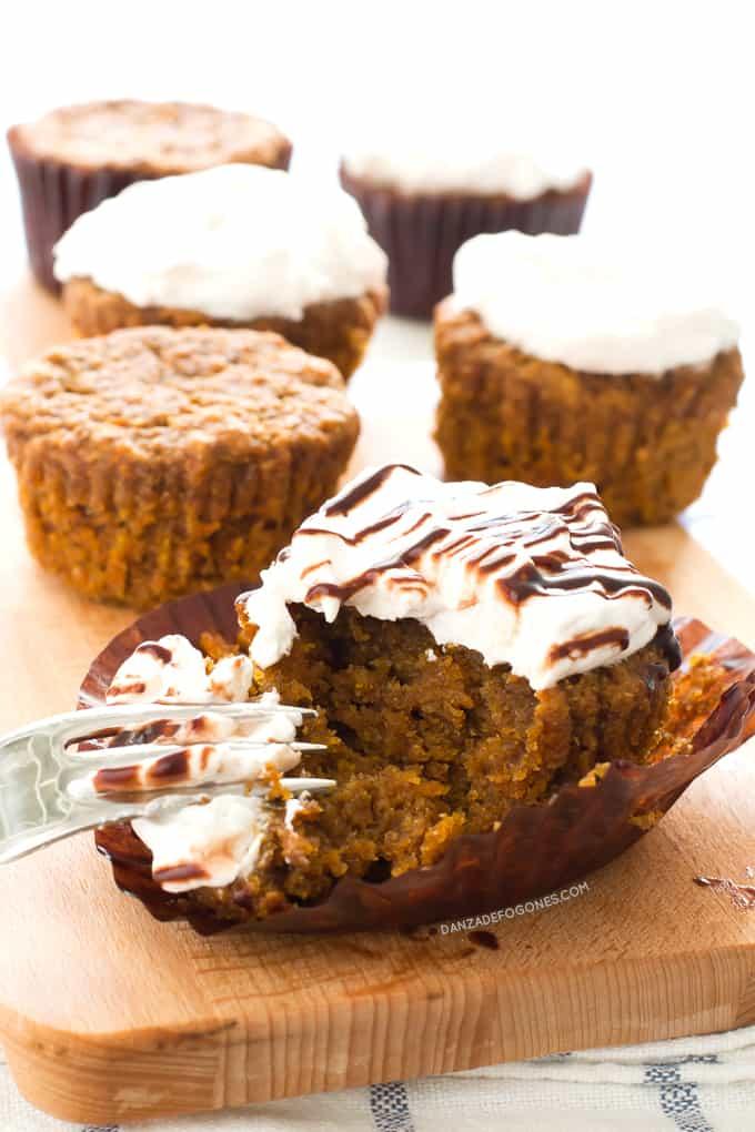 Cupcakes de Zanahoria Veganos