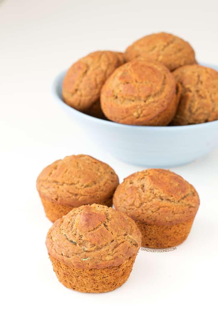 Muffins de calabacín veganos y sin gluten | danzadefogones.com #vegano #vegan