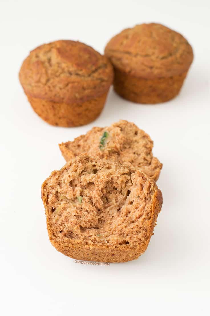 Muffins veganos sin gluten | danzadefogones.com #vegano #vegan