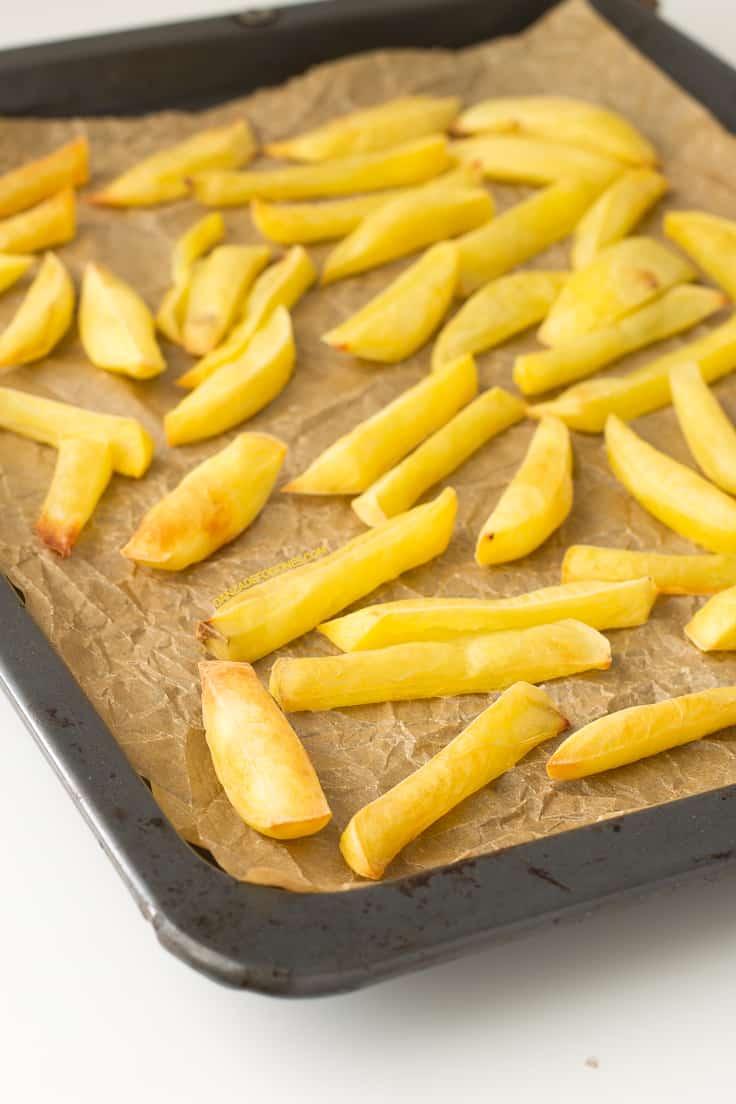 Patatas fritas sin grasa | danzadefogones.com #vegan #vegano