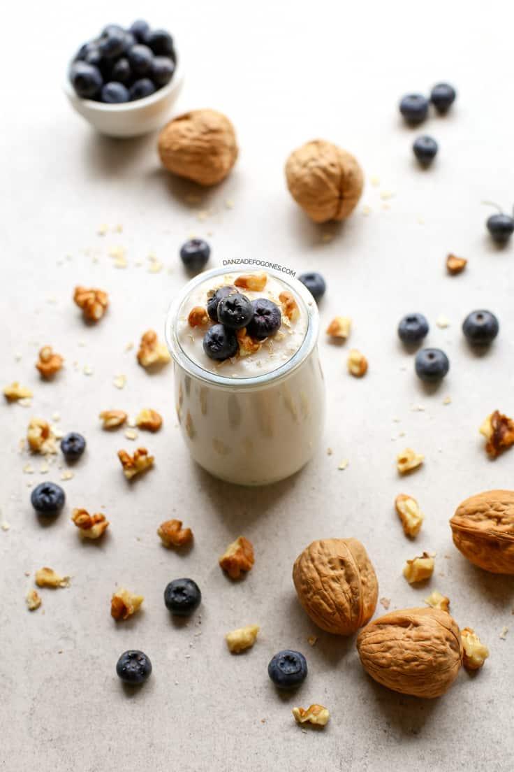 Receta de yogur vegano de coco sin leche | danzadefogones.com #vegano #vegan