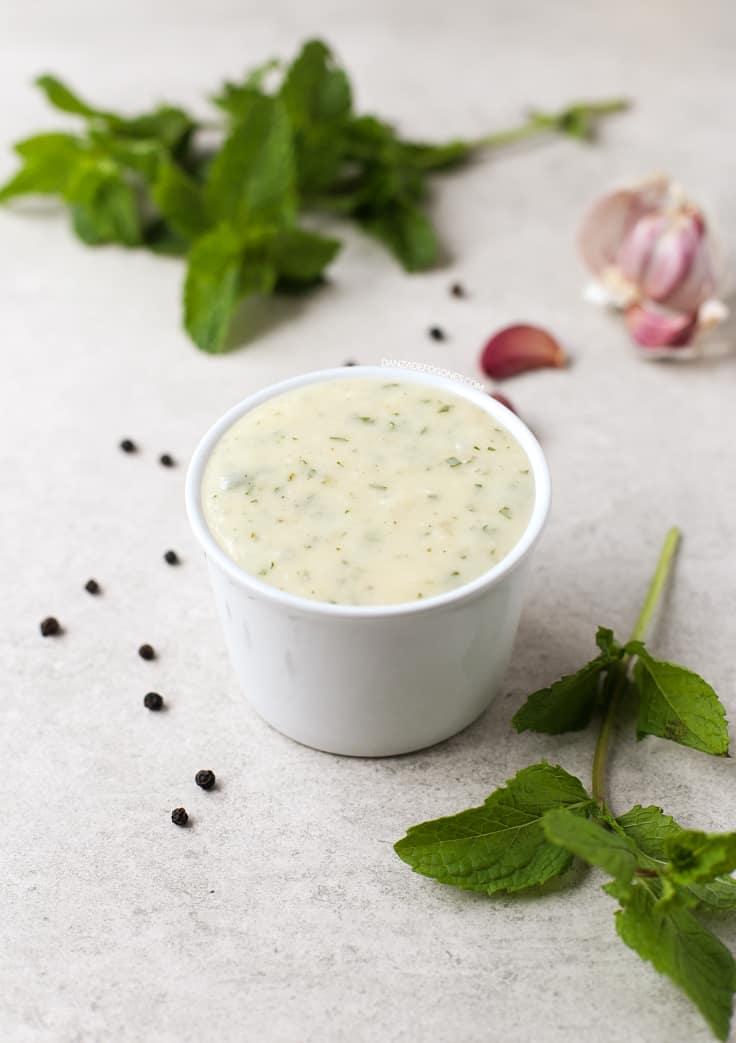 Salsa de yogur vegana | danzadefogones.com #vegano #vegan