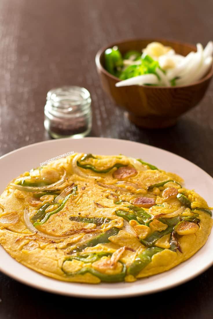 tortilla vegana de verduras danza de fogones
