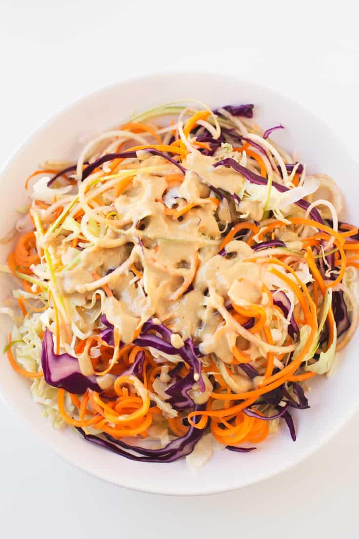 Coleslaw vegana con aliño | danzadefogones.com #vegan #vegano