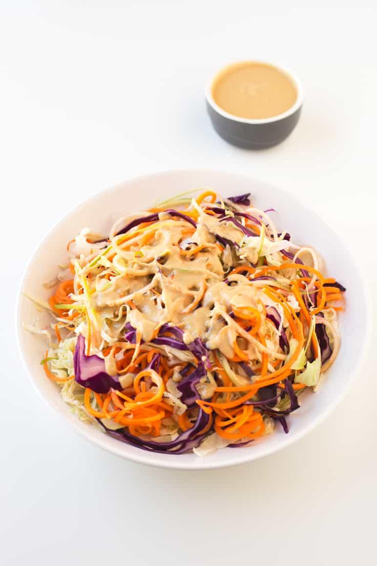 Ensalada coleslaw vegana | danzadefogones.com #vegan #vegano