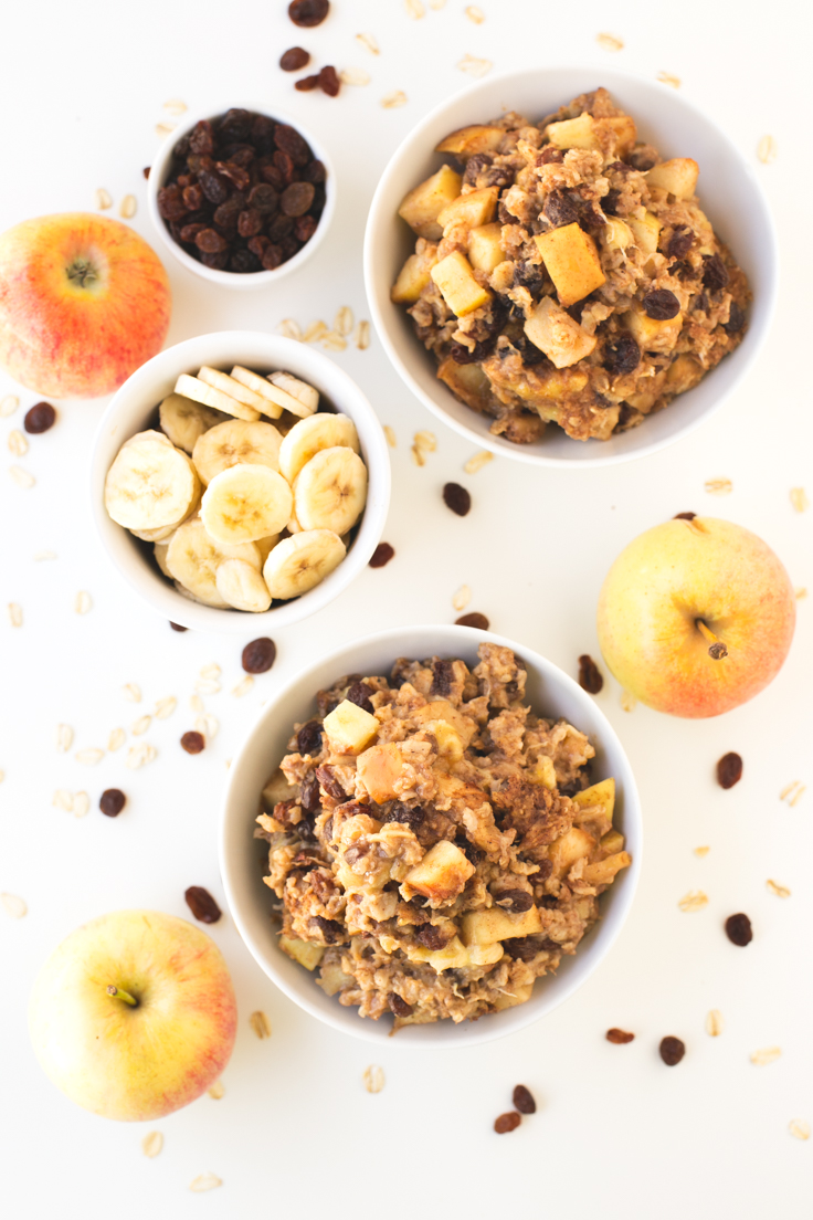 Gachas de avena al horno. ¡Son un desayuno delicioso! | danzadefogones.com #vegan #vegano