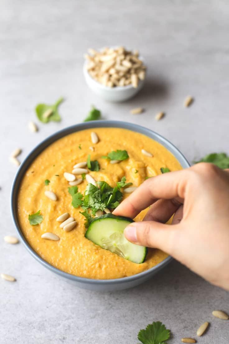 Hummus de alubias blancas y calabaza | danzadefogones.com #vegano #vegan