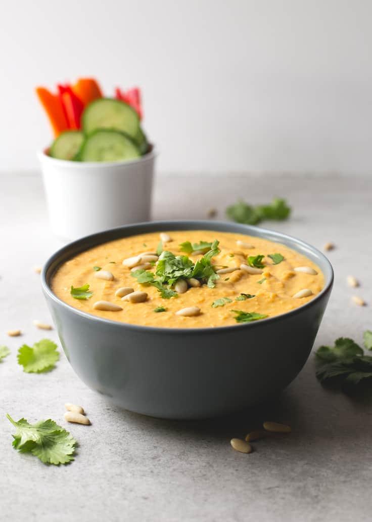 Hummus de alubias y calabaza | danzadefogones.com #vegano #vegan