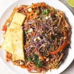 Receta de Pad Thai vegano | danzadefogones.com #vegan #vegano