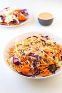 Receta de coleslaw vegana   danzadefogones.com #vegan #vegano