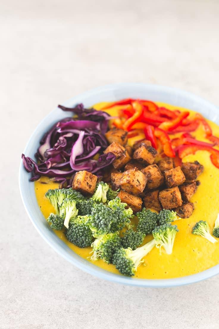 Receta de sopa de curry | danzadefogones.com #vegan #vegano