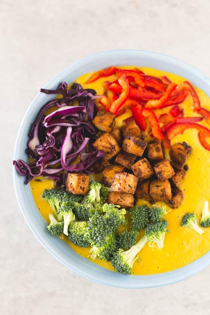 Sopa de curry vegetal | danzadefogones.com #vegan #vegano