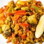 Arroz con verduras - Este arroz con verduras es un plato muy sabroso, ideal para los fines de semana o si os apetece un plato rico y nutritivo.