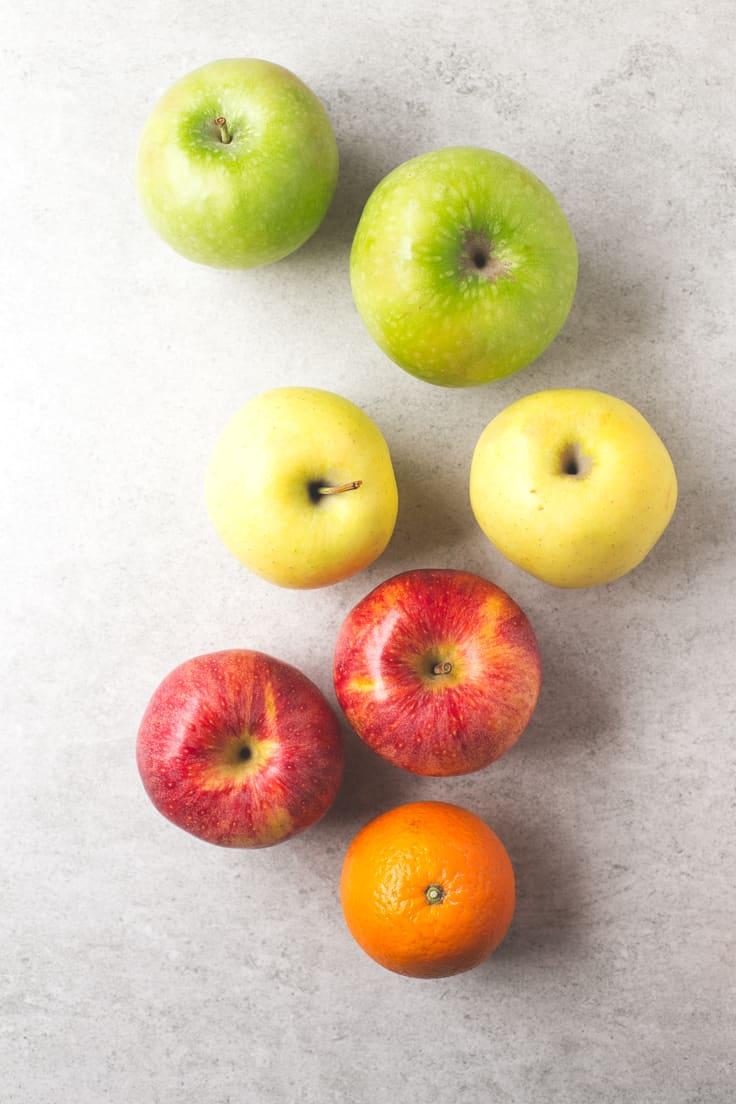 Ingredientes sidra de manzana - Esta sidra de manzana no es la sidra asturiana, sino una receta típica de norte América. Es una bebida caliente, dulce y muy reconfortante.